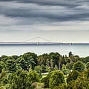 Bridge To Mackinac Art Print
