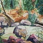Bridge To The Hot Springs Art Print