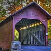 Bridge To The Past Roddy Road Covered Bridge-a1 Autumn Frederick County Maryland Art Print
