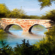Bridge Under El Dorado Lake Art Print by Robert Carver