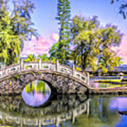 Bridges At Liliuokalani Park Hilo Art Print