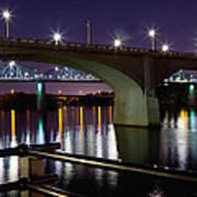 Bridges At Night Art Print