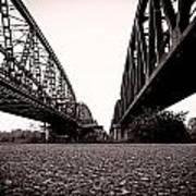 Bridges Over Art Print
