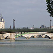 Bridges Over The Seine And Conciergerie - Paris Art Print