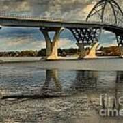 Bridging Vermont And New York Art Print