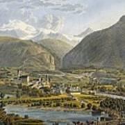 Brig On The Rhone, Bernese Alps Art Print