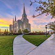 Brigham City Sunset Art Print