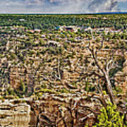 Bright Angel And El Tovar Hotel South Rim Art Print