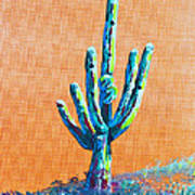 Bright Cactus Art Print