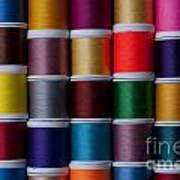 Bright Colored Spools Of Thread Art Print