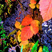 Bright Colorful Leaves Vertical Art Print