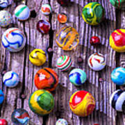Bright Colorful Marbles Art Print