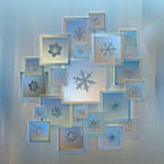 Snowflake Collage - Bright Crystals 2012-2014 Art Print by Alexey Kljatov