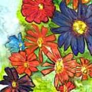 Bright Flower Bunch Art Print