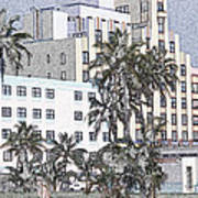 Bright Light Miami Beach Art Print