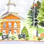 Bright Morning At The Courthouse Art Print