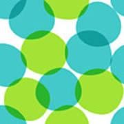 Bright Seamless Pattern With Circles Art Print