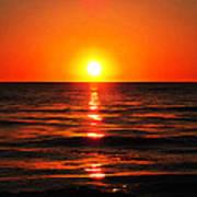 Bright Skies - Sunset Art By Sharon Cummings Art Print