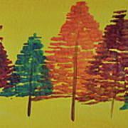 Bright Trees Art Print