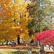 Brilliant Colors In The Cemetery  Art Print