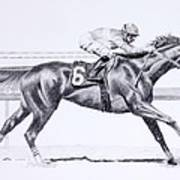 Bring On The Race Zenyatta Art Print