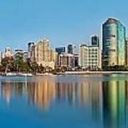 Brisbane City Reflections Art Print