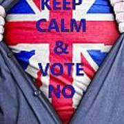 British Businessman Votes No Art Print