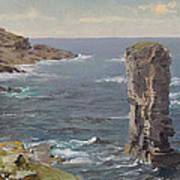 British Coastal View. Coast Of Cornwall Art Print