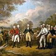 British General John Burgoyne Surrenders At Saratoga Art Print
