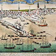 British Landing, 1768 Art Print