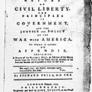 British Pamphlet, 1776 Art Print