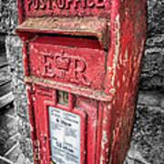 British Post Box Art Print by Adrian Evans