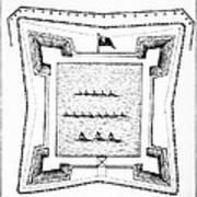 British Redoubt, 1777 Art Print