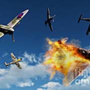 British Supermarine Spitfires Battle Art Print