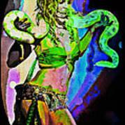Britney Neon Dancer Art Print