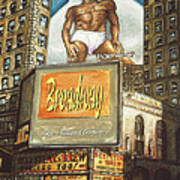 Broadway Billboards - New York Art Art Print