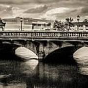 Broadway Bridge With Clouds Art Print