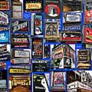 Broadway Collage Art Print