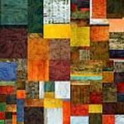 Brocade Color Collage 1.0 Art Print