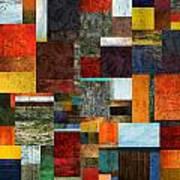 Brocade Color Collage 2.0 Art Print