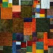Brocade Color Collage 3.0 Art Print