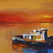 Brod Na Klisanskom Kanalu Art Print