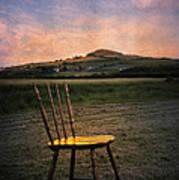 Broken Chair Art Print