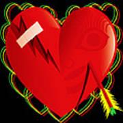 Broken Heart Mended Art Print