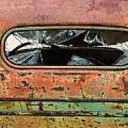 Broken Rear View Window Art Print