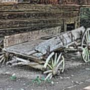 Broken Wagon Art Print
