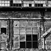 Broken Windows In Black And White Art Print