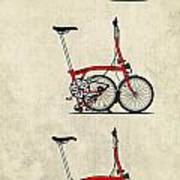 Brompton Bicycle Art Print by Andy Scullion