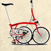 Brompton Bike Print by Andy Scullion