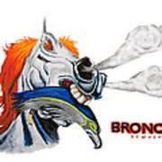 Broncos In Super Bowl Xlviii Art Print